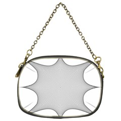 Star Grid Curved Curved Star Woven Chain Purses (one Side)