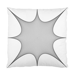 Star Grid Curved Curved Star Woven Standard Cushion Case (one Side)