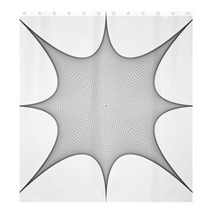 Star Grid Curved Curved Star Woven Shower Curtain 66  X 72  (large)