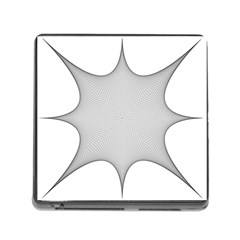Star Grid Curved Curved Star Woven Memory Card Reader (square)