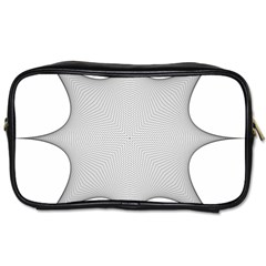 Star Grid Curved Curved Star Woven Toiletries Bags