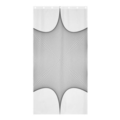 Star Grid Curved Curved Star Woven Shower Curtain 36  X 72  (stall)