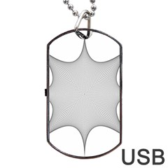 Star Grid Curved Curved Star Woven Dog Tag Usb Flash (two Sides)