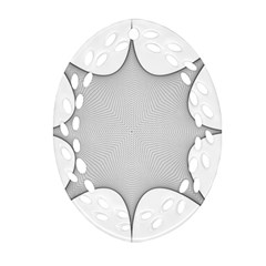 Star Grid Curved Curved Star Woven Ornament (oval Filigree)