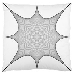 Star Grid Curved Curved Star Woven Large Cushion Case (two Sides)