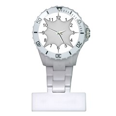 Star Grid Curved Curved Star Woven Plastic Nurses Watch
