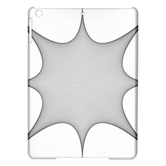 Star Grid Curved Curved Star Woven Ipad Air Hardshell Cases