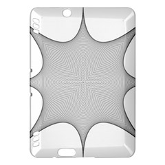 Star Grid Curved Curved Star Woven Kindle Fire Hdx Hardshell Case