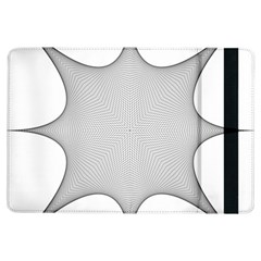 Star Grid Curved Curved Star Woven Ipad Air Flip