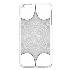 Star Grid Curved Curved Star Woven Apple Iphone 6 Plus/6s Plus Enamel White Case