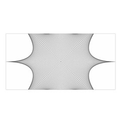 Star Grid Curved Curved Star Woven Satin Shawl