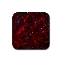 Abstract Fantasy Color Colorful Rubber Square Coaster (4 Pack)