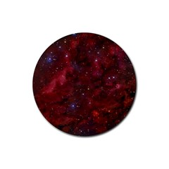 Abstract Fantasy Color Colorful Rubber Round Coaster (4 Pack)