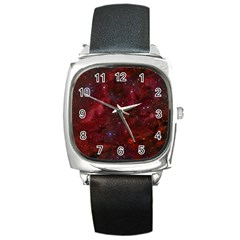 Abstract Fantasy Color Colorful Square Metal Watch