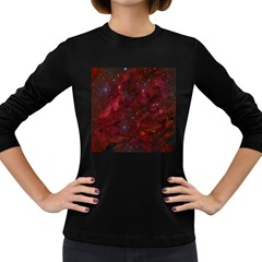 Abstract Fantasy Color Colorful Women s Long Sleeve Dark T Shirts