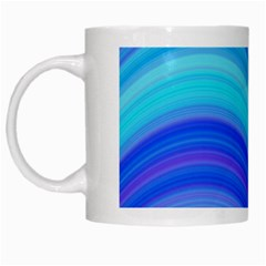 Blue Background Water Design Wave White Mugs