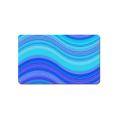 Blue Background Water Design Wave Magnet (name Card)