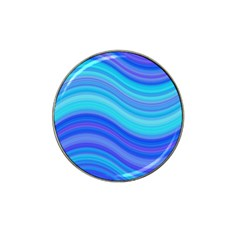 Blue Background Water Design Wave Hat Clip Ball Marker