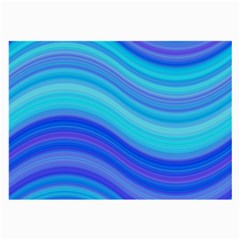 Blue Background Water Design Wave Large Glasses Cloth
