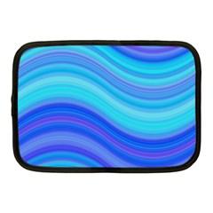 Blue Background Water Design Wave Netbook Case (medium)