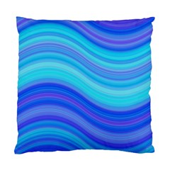 Blue Background Water Design Wave Standard Cushion Case (two Sides)