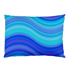 Blue Background Water Design Wave Pillow Case