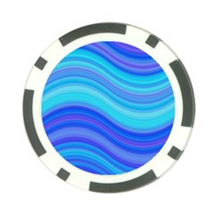 Blue Background Water Design Wave Poker Chip Card Guard (10 Pack)