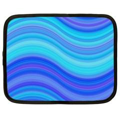 Blue Background Water Design Wave Netbook Case (xl)