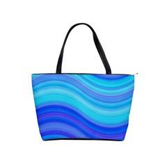 Blue Background Water Design Wave Shoulder Handbags
