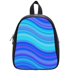 Blue Background Water Design Wave School Bag (small)