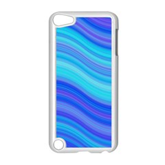 Blue Background Water Design Wave Apple Ipod Touch 5 Case (white)