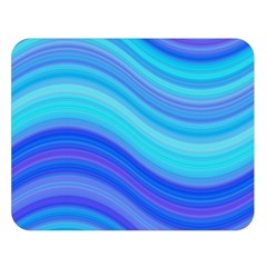 Blue Background Water Design Wave Double Sided Flano Blanket (large)