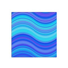 Blue Background Water Design Wave Satin Bandana Scarf