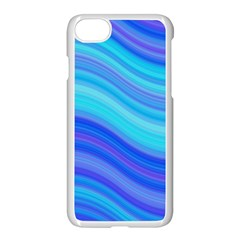 Blue Background Water Design Wave Apple Iphone 7 Seamless Case (white)