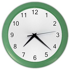 Background Line Motion Curve Color Wall Clocks