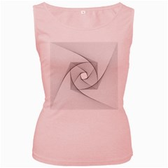 Rotation Rotated Spiral Swirl Women s Pink Tank Top