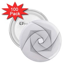 Rotation Rotated Spiral Swirl 2 25  Buttons (100 Pack)