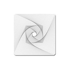 Rotation Rotated Spiral Swirl Square Magnet