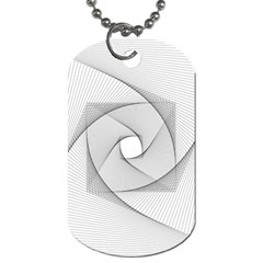 Rotation Rotated Spiral Swirl Dog Tag (two Sides)