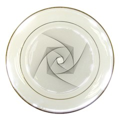 Rotation Rotated Spiral Swirl Porcelain Plates