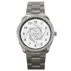 Rotation Rotated Spiral Swirl Sport Metal Watch