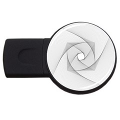 Rotation Rotated Spiral Swirl Usb Flash Drive Round (4 Gb)