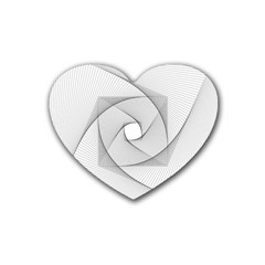 Rotation Rotated Spiral Swirl Heart Coaster (4 Pack)