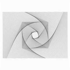 Rotation Rotated Spiral Swirl Large Glasses Cloth