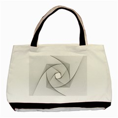 Rotation Rotated Spiral Swirl Basic Tote Bag (two Sides)