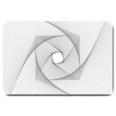 Rotation Rotated Spiral Swirl Large Doormat