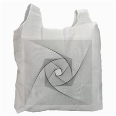 Rotation Rotated Spiral Swirl Recycle Bag (one Side)