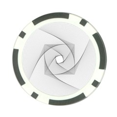 Rotation Rotated Spiral Swirl Poker Chip Card Guard (10 Pack)