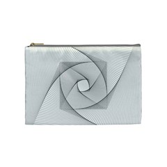 Rotation Rotated Spiral Swirl Cosmetic Bag (medium)