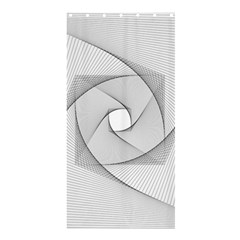 Rotation Rotated Spiral Swirl Shower Curtain 36  X 72  (stall)